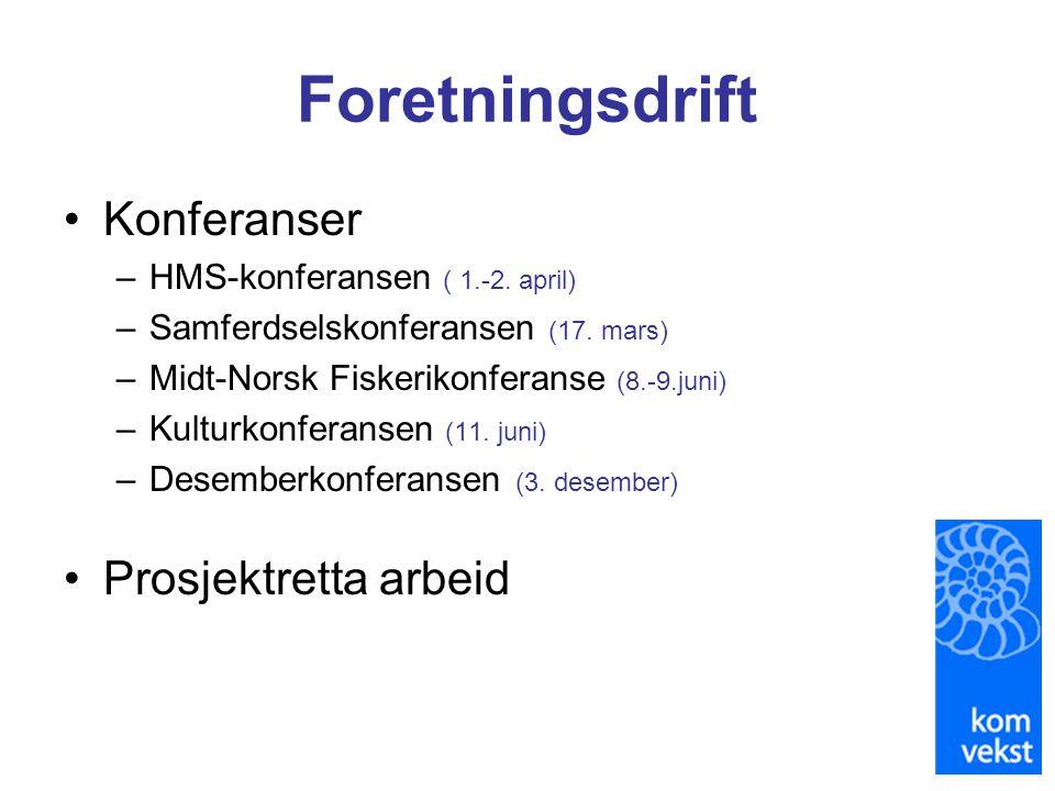 Foretningsdrift Konferanser Prosjektretta arbeid