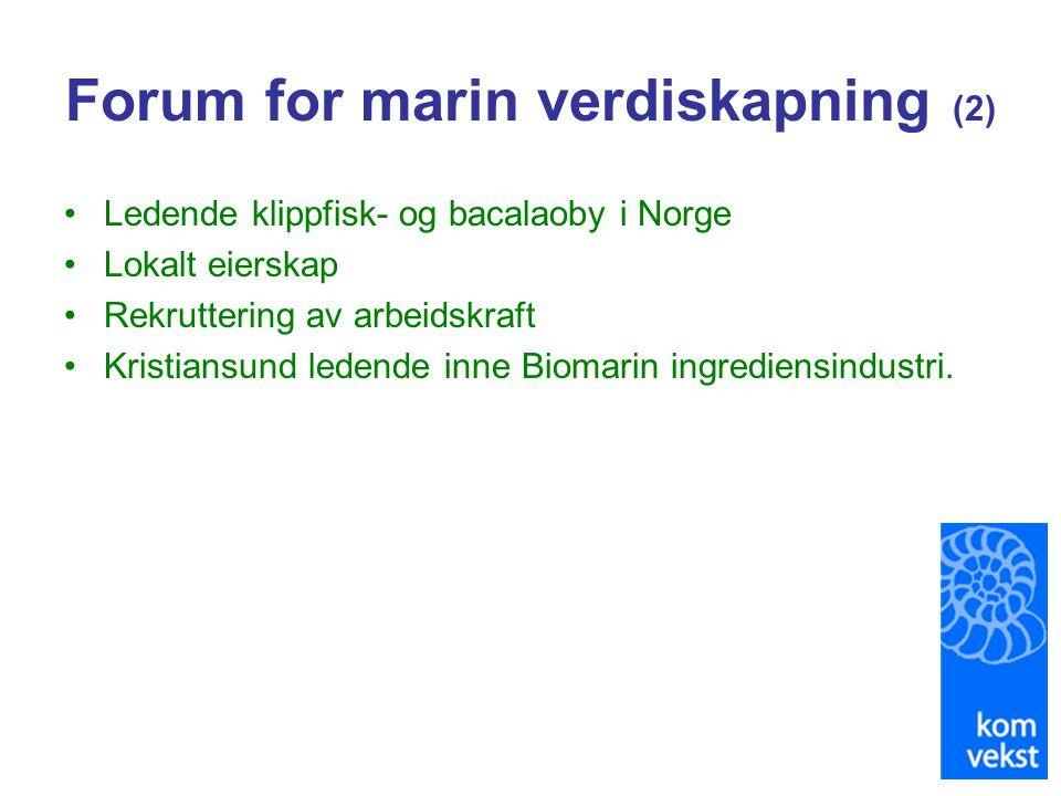 Forum for marin verdiskapning (2)