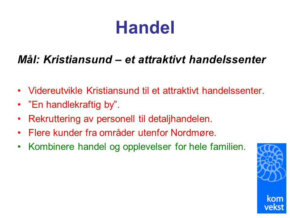 Handel Mål: Kristiansund – et attraktivt handelssenter