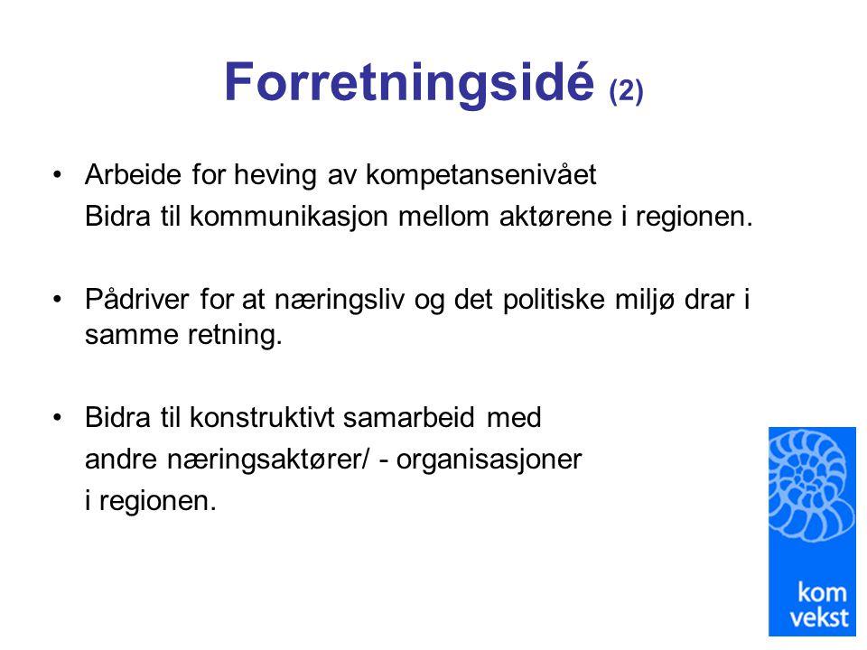 Forretningsidé (2) Arbeide for heving av kompetansenivået