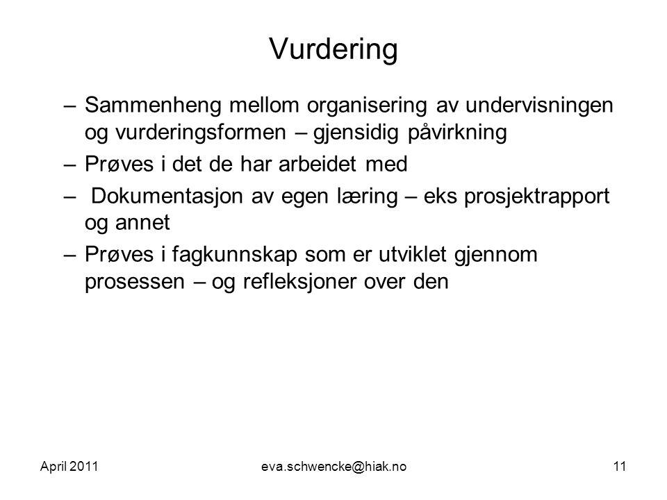 Lærerkonferanse Gjøvik, april 2011