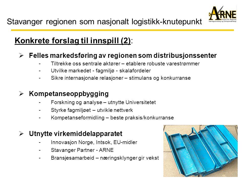 Stavanger regionen som nasjonalt logistikk-knutepunkt