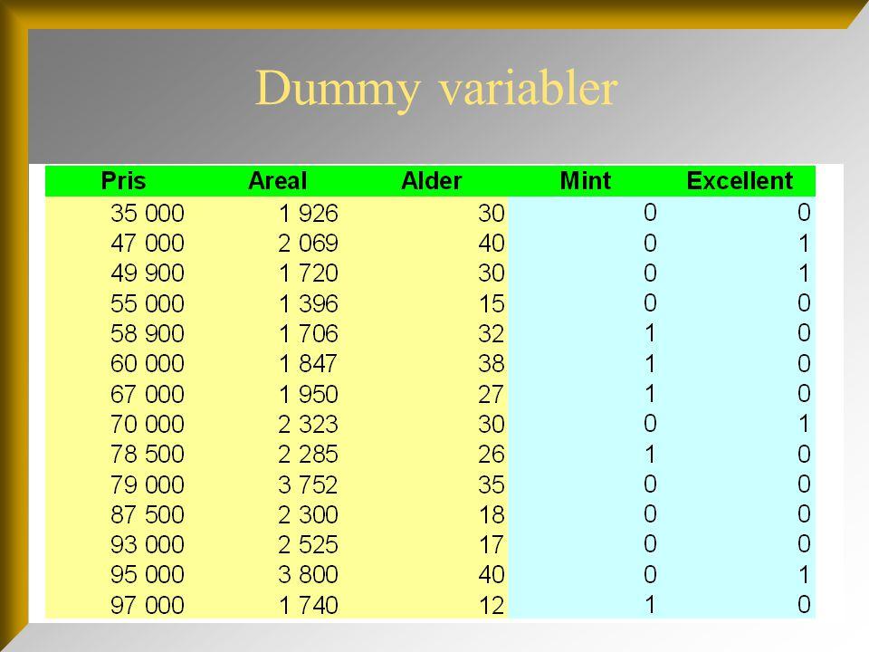 Dummy variabler