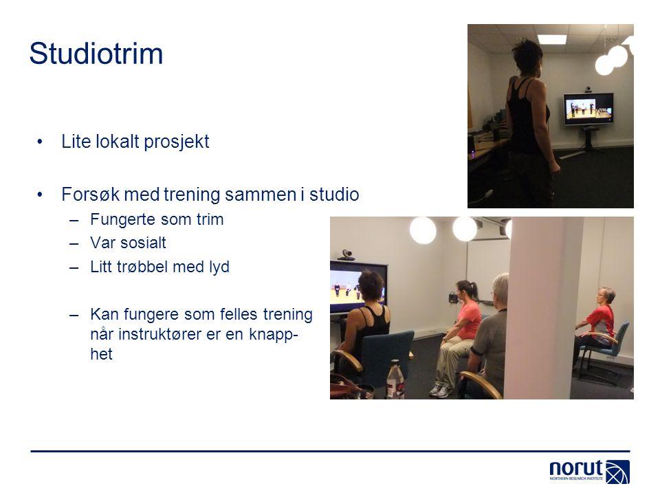 Studiotrim Lite lokalt prosjekt Forsøk med trening sammen i studio