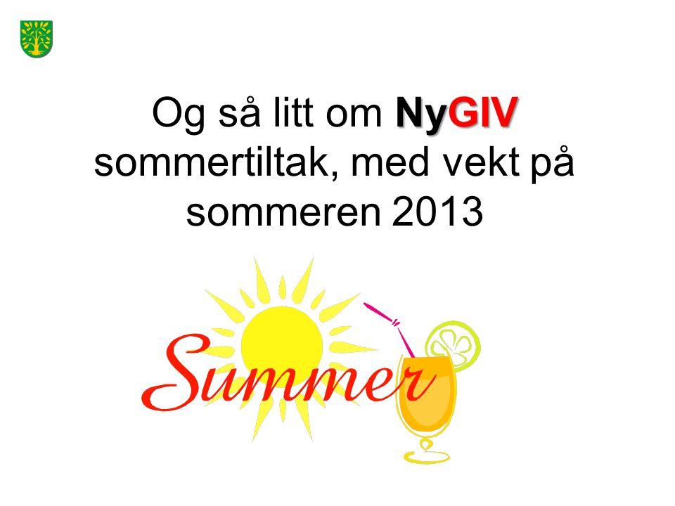 Og så litt om NyGIV sommertiltak, med vekt på sommeren 2013