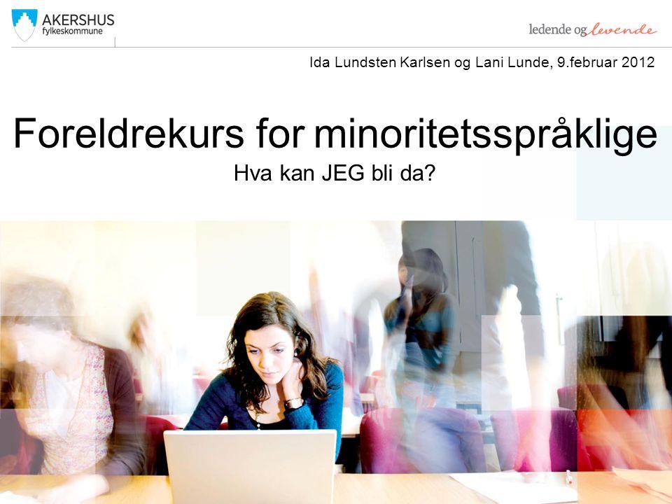 Foreldrekurs for minoritetsspråklige