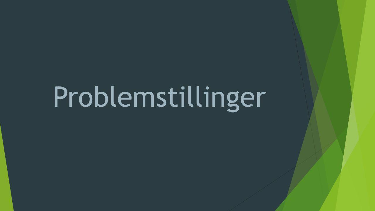- Problemstillinger