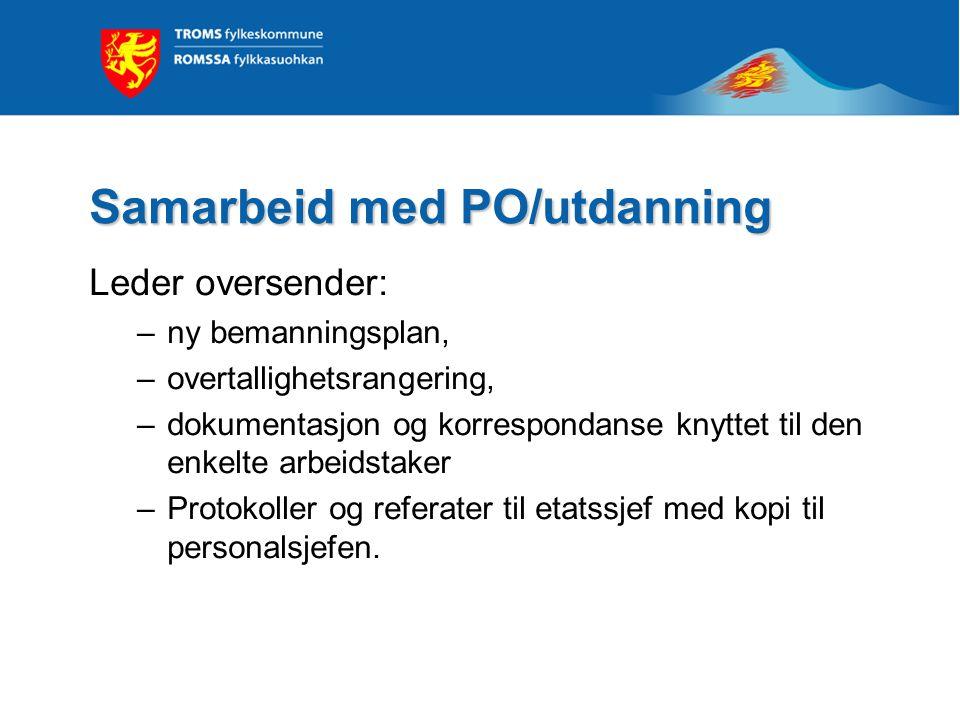 Samarbeid med PO/utdanning