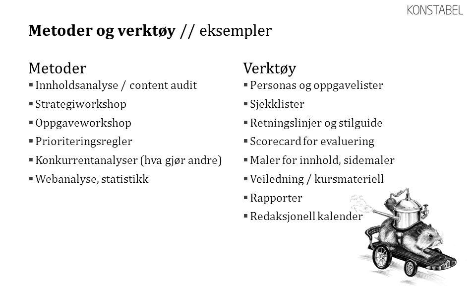 Metoder og verktøy // eksempler