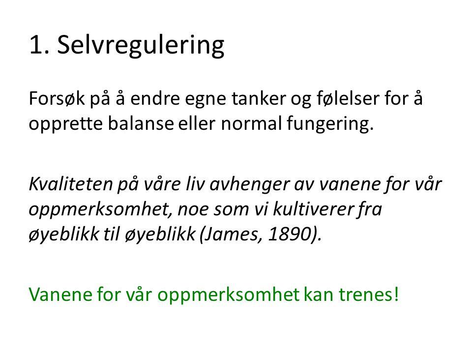 1. Selvregulering
