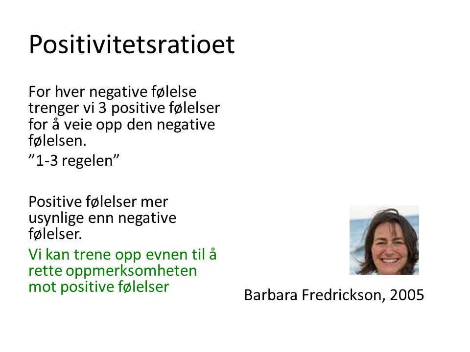 Positivitetsratioet