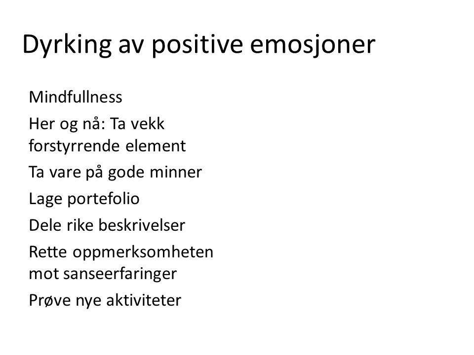 Dyrking av positive emosjoner