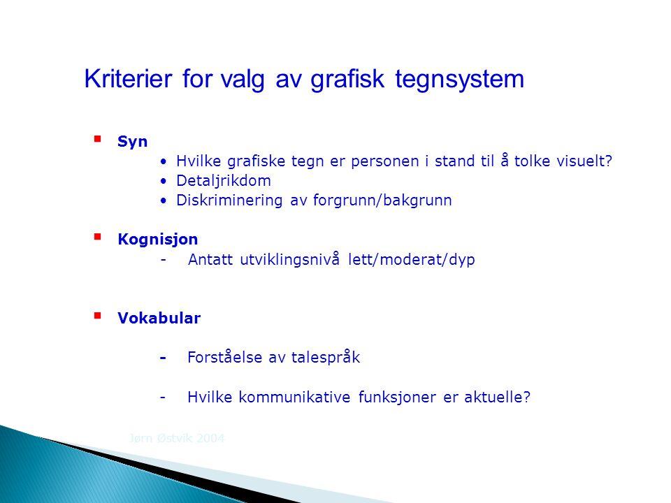 Kriterier for valg av grafisk tegnsystem