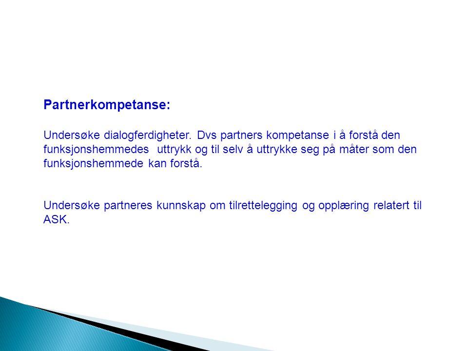 Partnerkompetanse: