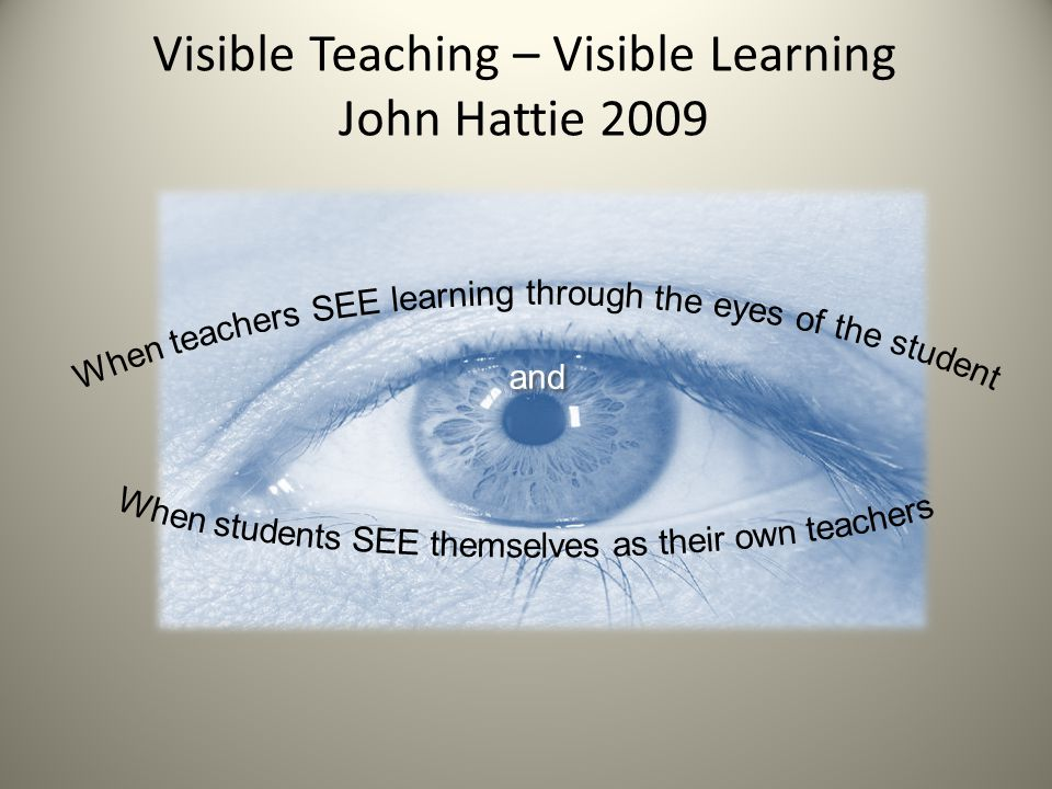 Visible Teaching – Visible Learning John Hattie 2009