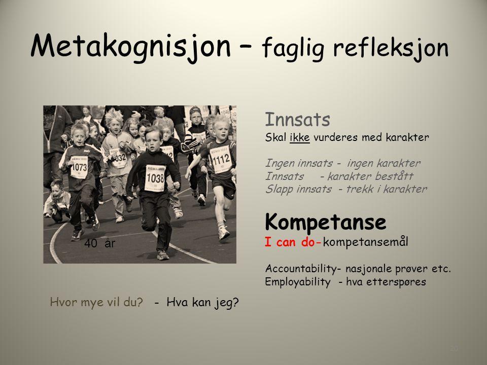 Metakognisjon – faglig refleksjon