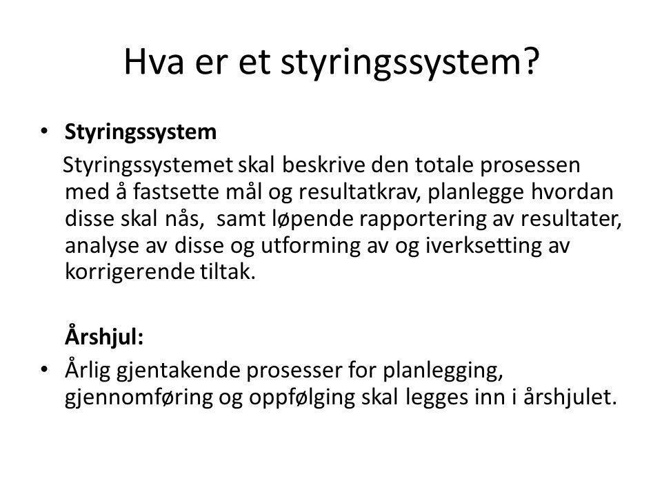 Hva er et styringssystem