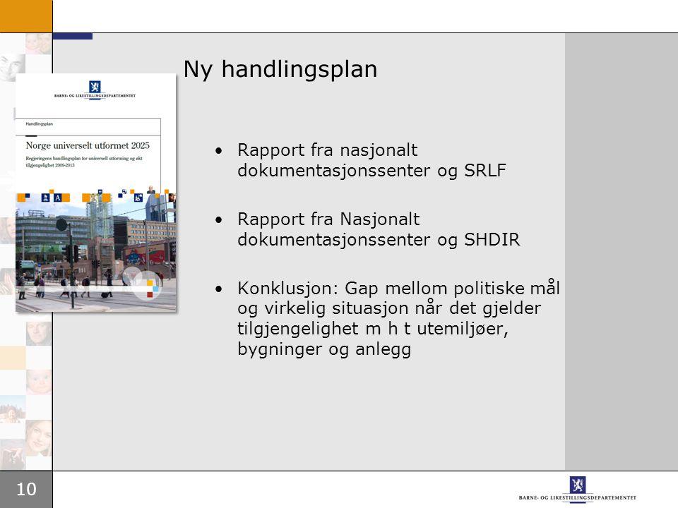 Ny handlingsplan Rapport fra nasjonalt dokumentasjonssenter og SRLF