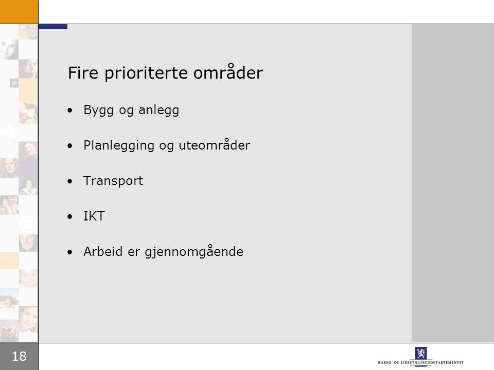 Fire prioriterte områder