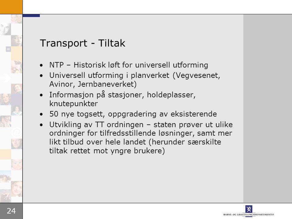 Transport - Tiltak NTP – Historisk løft for universell utforming