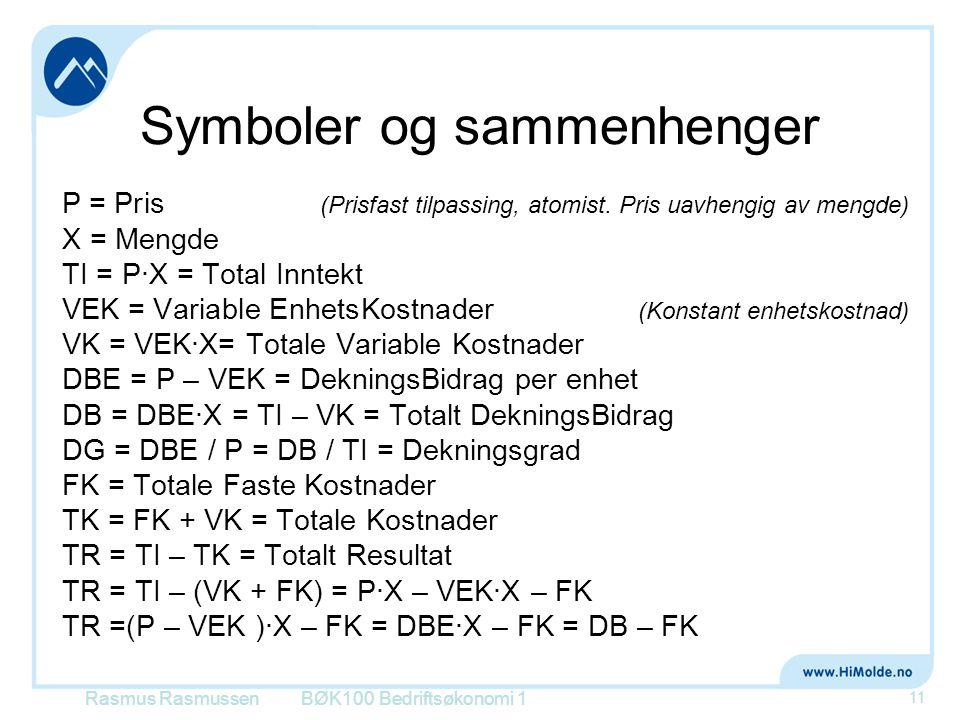Symboler og sammenhenger