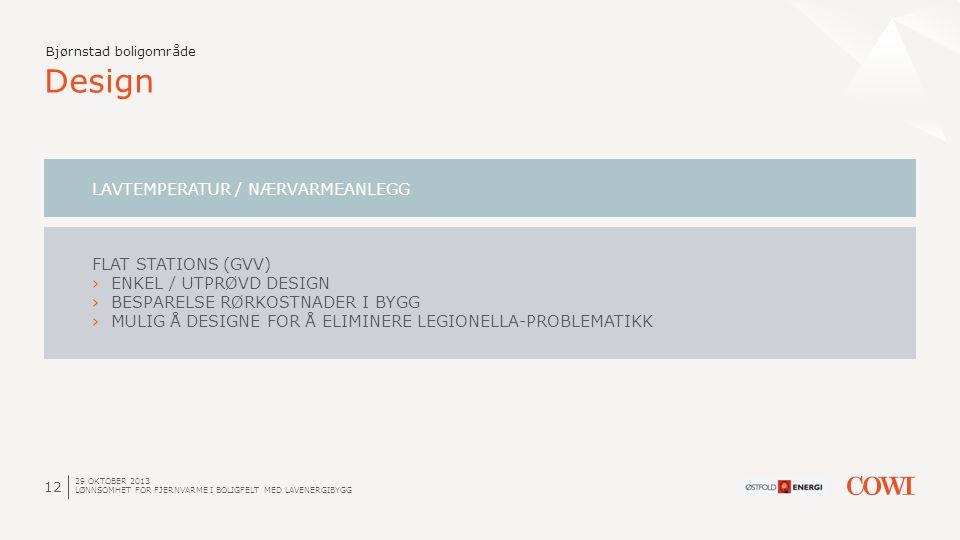 Design LAVTEMPERATUR / NÆRVARMEANLEGG FLAT STATIONS (GVV)