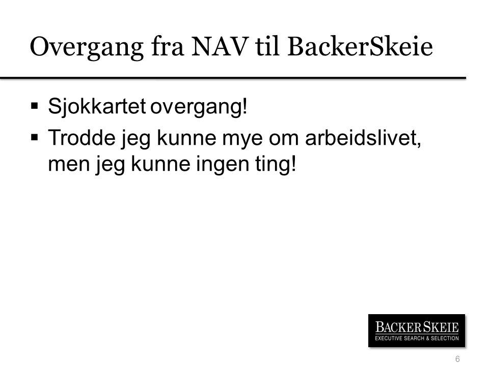Overgang fra NAV til BackerSkeie
