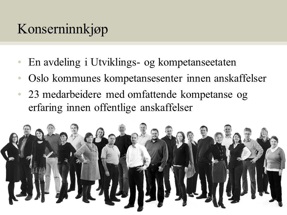 Konserninnkjøp En avdeling i Utviklings- og kompetanseetaten