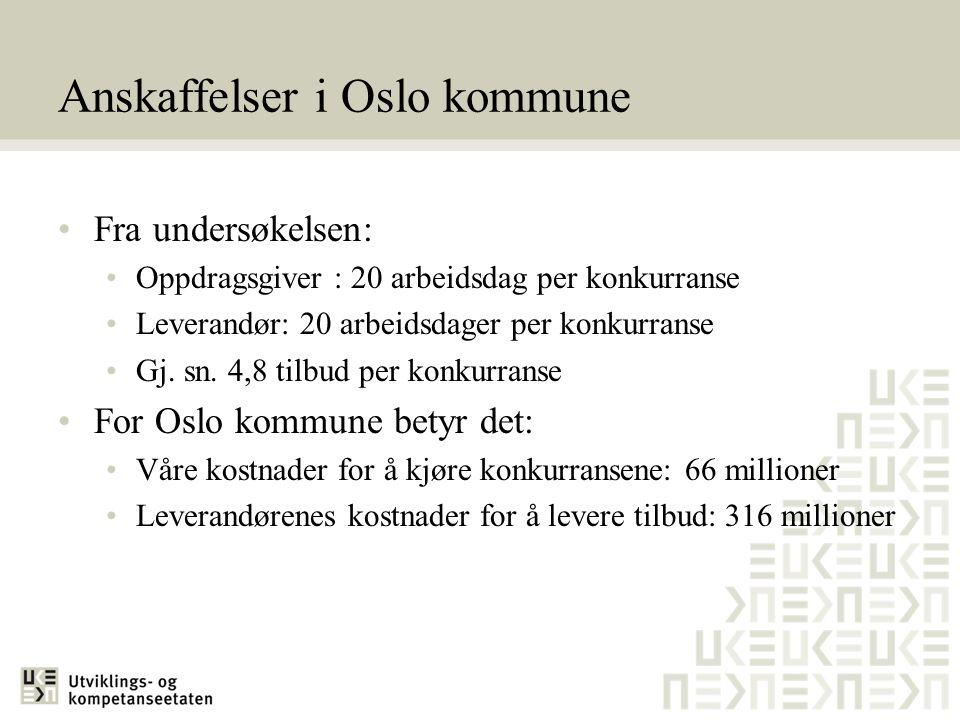 Anskaffelser i Oslo kommune