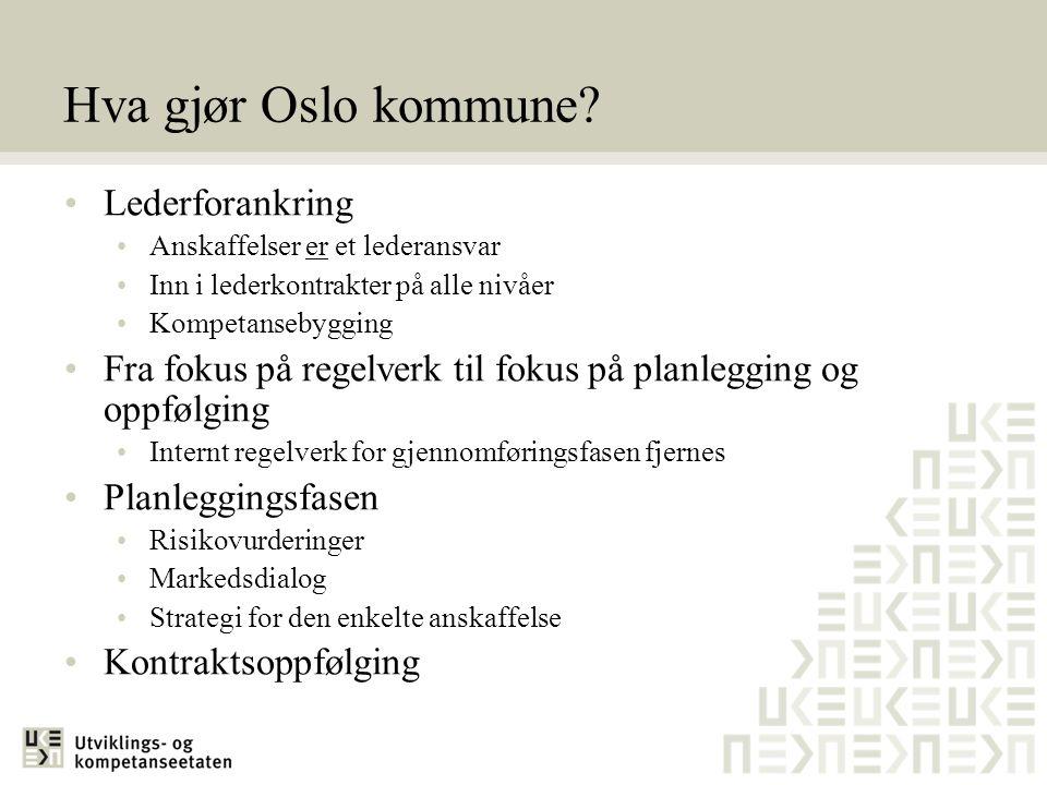 Hva gjør Oslo kommune Lederforankring