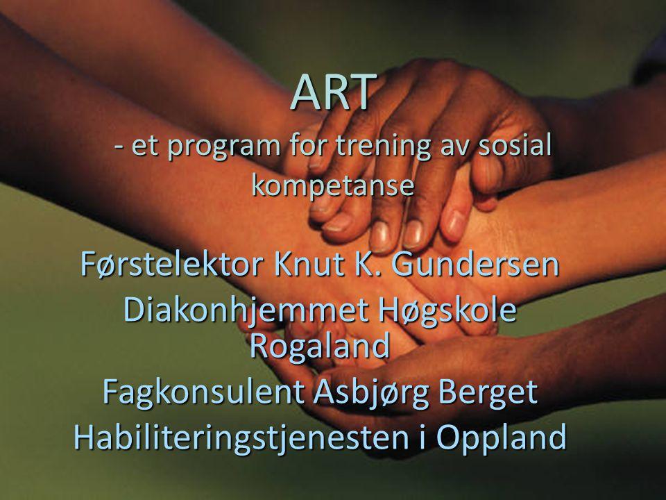 ART - et program for trening av sosial kompetanse