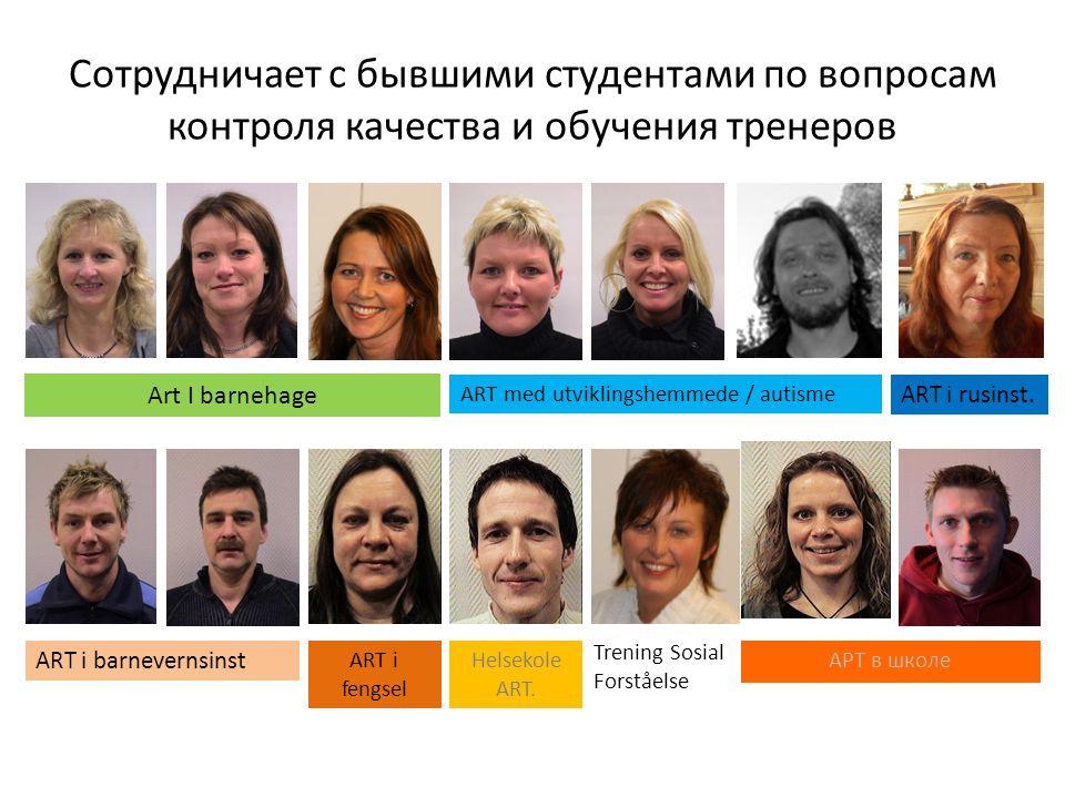 Сотрудничает с бывшими студентами по вопросам контроля качества и обучения тренеров