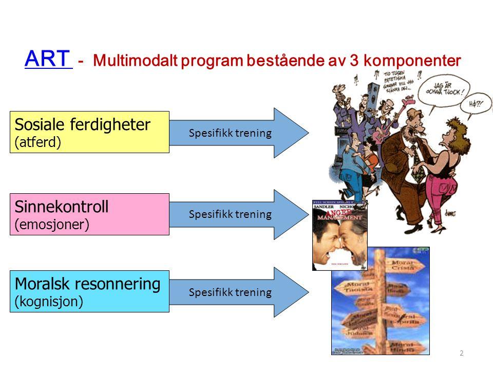ART - Multimodalt program bestående av 3 komponenter