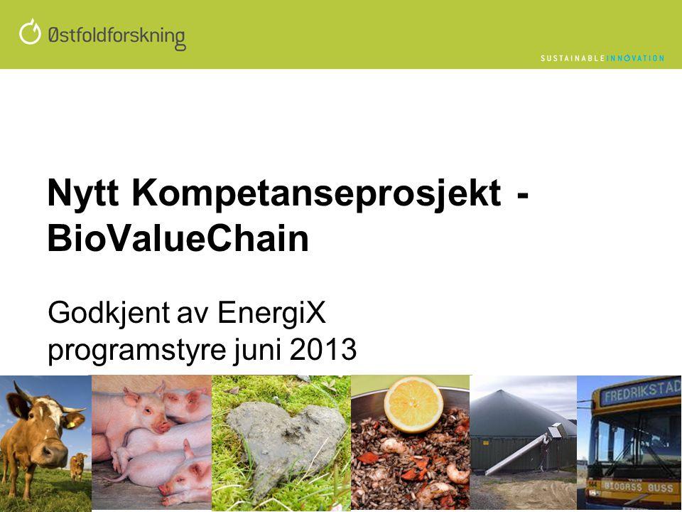 Nytt Kompetanseprosjekt - BioValueChain