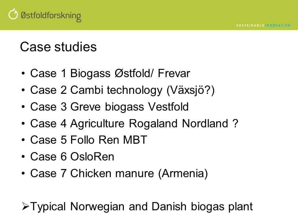 Case studies Case 1 Biogass Østfold/ Frevar