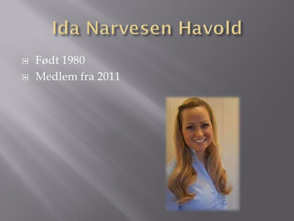 Ida Narvesen Havold Født 1980 Medlem fra 2011
