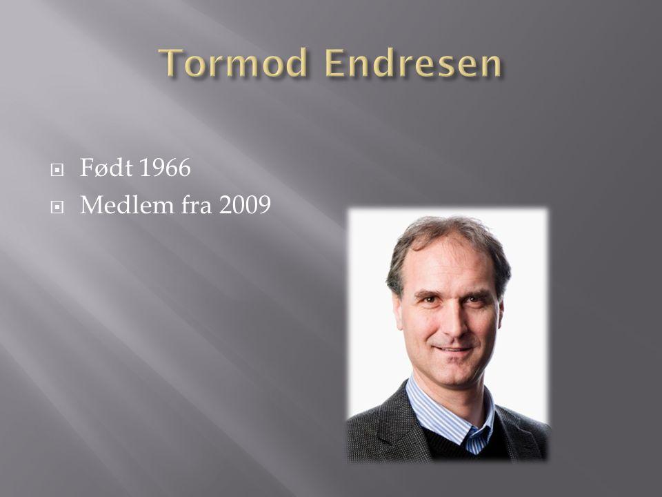 Tormod Endresen Født 1966 Medlem fra 2009