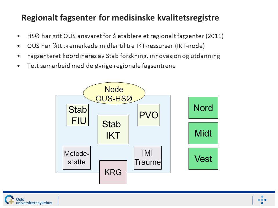 Regionalt fagsenter for medisinske kvalitetsregistre