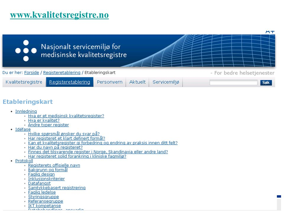 www.kvalitetsregistre.no