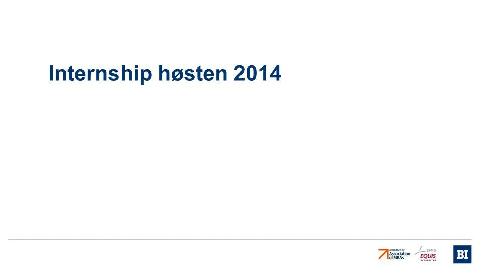 Internship høsten 2014