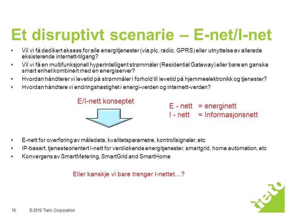 Et disruptivt scenarie – E-net/I-net