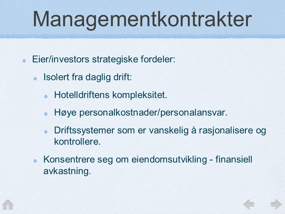 Managementkontrakter