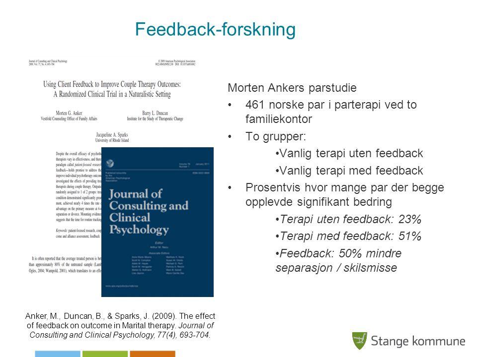 Feedback-forskning Morten Ankers parstudie