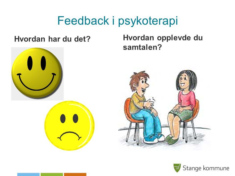 Feedback i psykoterapi