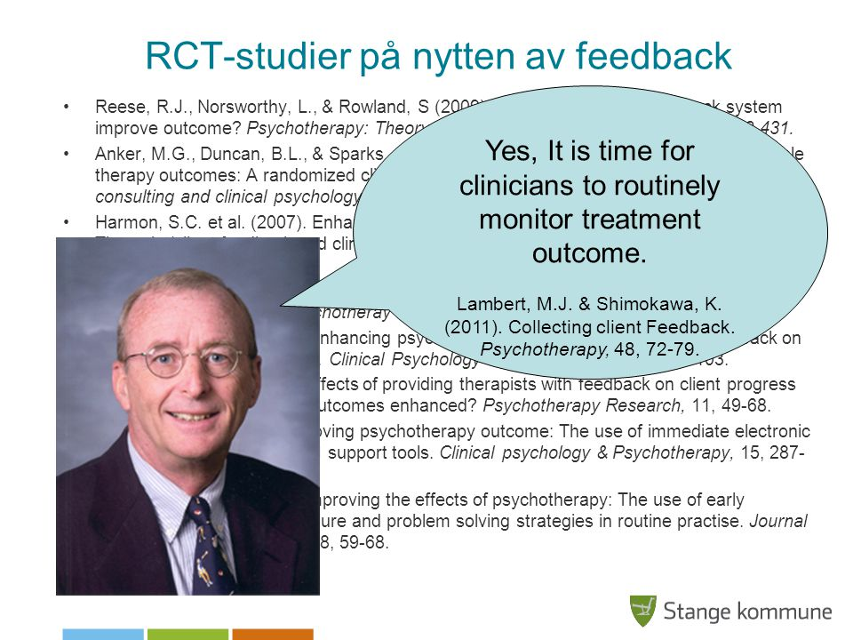 RCT-studier på nytten av feedback