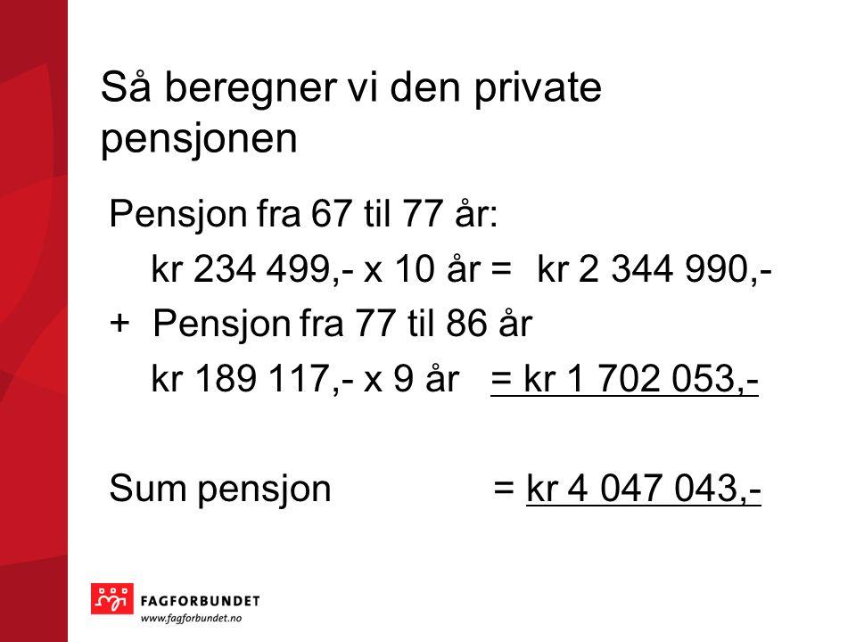 Så beregner vi den private pensjonen