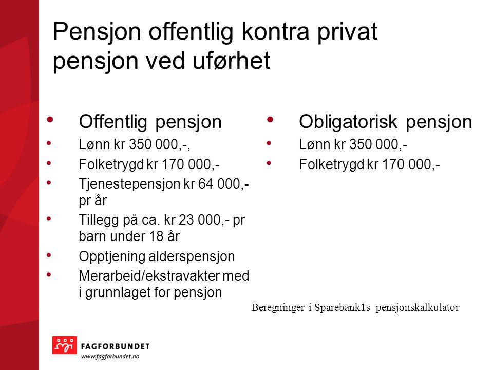 Pensjon offentlig kontra privat pensjon ved uførhet