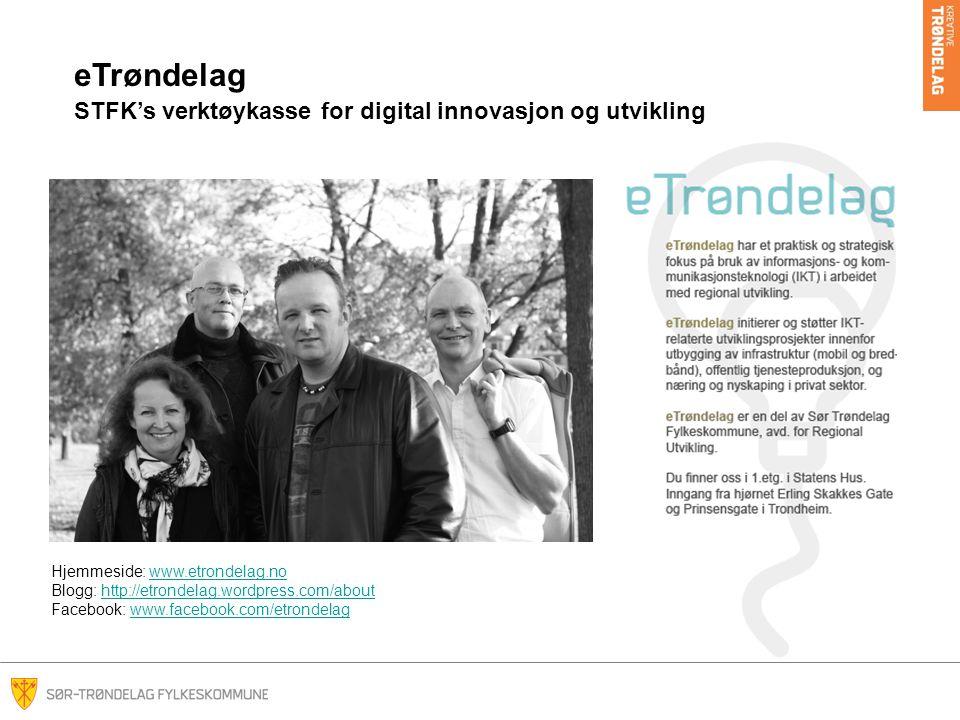 eTrøndelag STFK's verktøykasse for digital innovasjon og utvikling