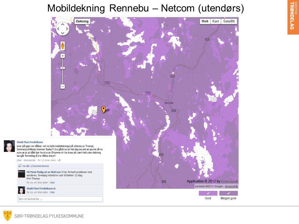 Mobildekning Rennebu – Netcom (utendørs)