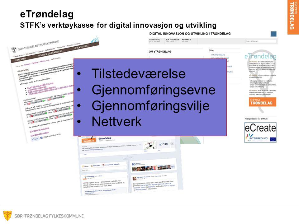 Tilstedeværelse Gjennomføringsevne Gjennomføringsvilje Nettverk